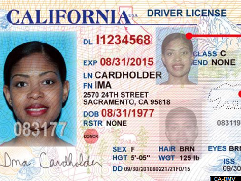 Homeland Security Rejects Design for CA Driver's Licenses for Illegals