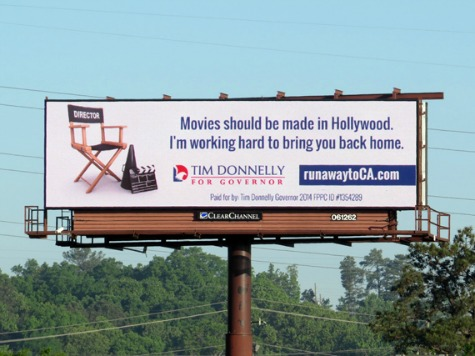 CA Gov Candidate Donnelly Unveils Billboard in Georgia Aimed to Bring Movies Back to CA