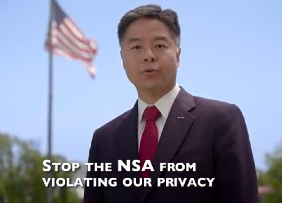 Lieu Campaign Launches First TV Ad, Slams NSA