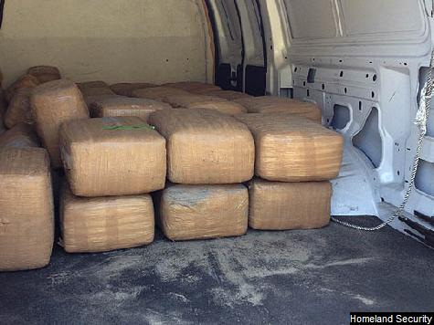 Smugglers Abandon 1,000 lbs. of Pot After Car Gets Stuck on Beach