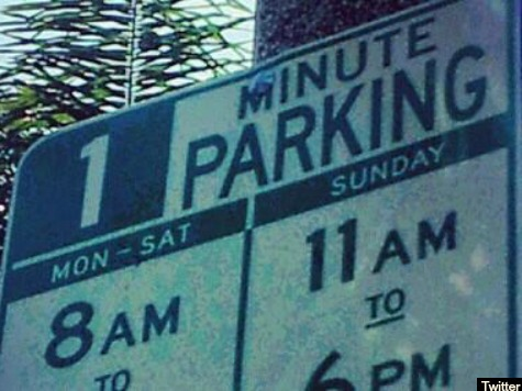 L.A. '1 Minute Parking' Sign Up Since 2011 Replaced after Drudge Highlight