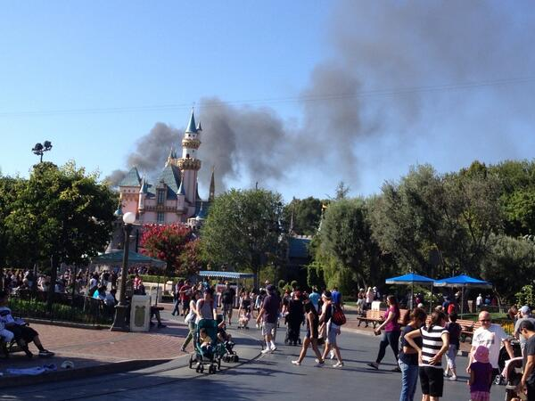 Disneyland Fire Visible for 'Miles'