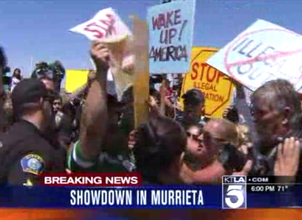 Protestors Block Road, Turn Away Buses of Illegal Aliens in Murrieta