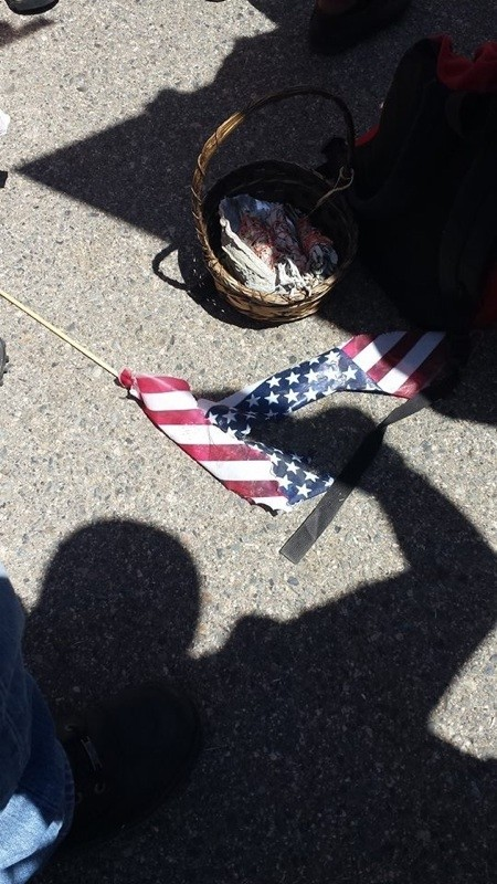 Pro-Amnesty Crowd Burns American Flag at Murrieta on 4th of July