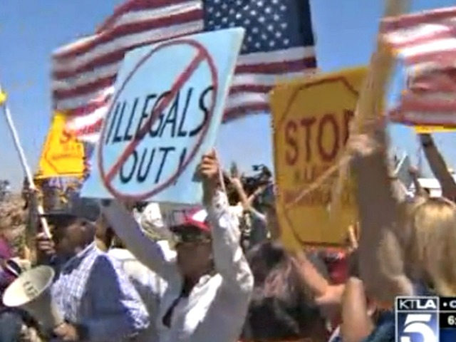 La Raza, MSNBC Furious with CA Citizens Who Turned Back Buses of Illegal Aliens