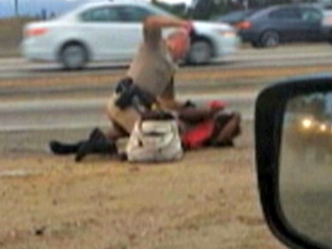 Shock Video: CHP Officer Repeatedly Punches Woman in the Head