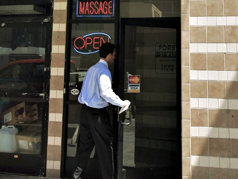 California Massage Parlors Busted for Human Trafficking, Prostitution