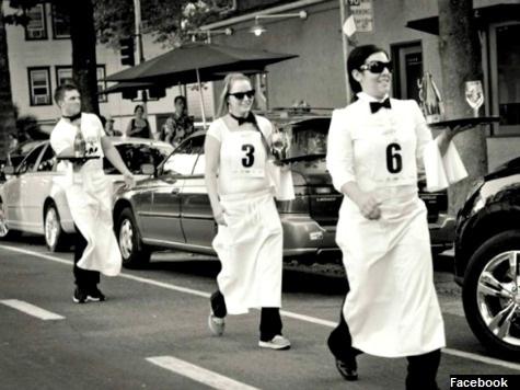 Sacramento Celebrates French Bastille Day with Waiters' Race