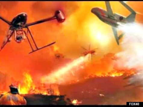Civilian Drone Interferes with Sands Firefighting Efforts