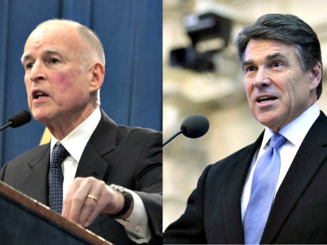 Jerry Brown Mocks Governor Rick Perry's National Guard Solution on Border