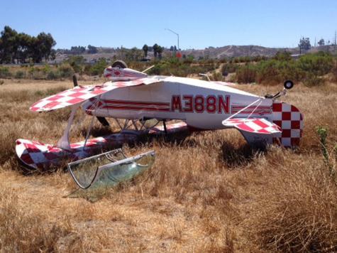 Biplane Makes Emergency Landing, Flips Over in Oceanside