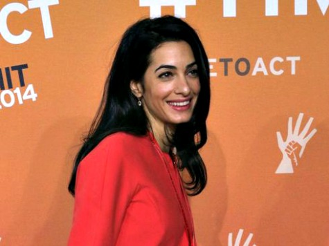 George Clooney Fiancée Turns Down UN Post, Remains Anti-Israel
