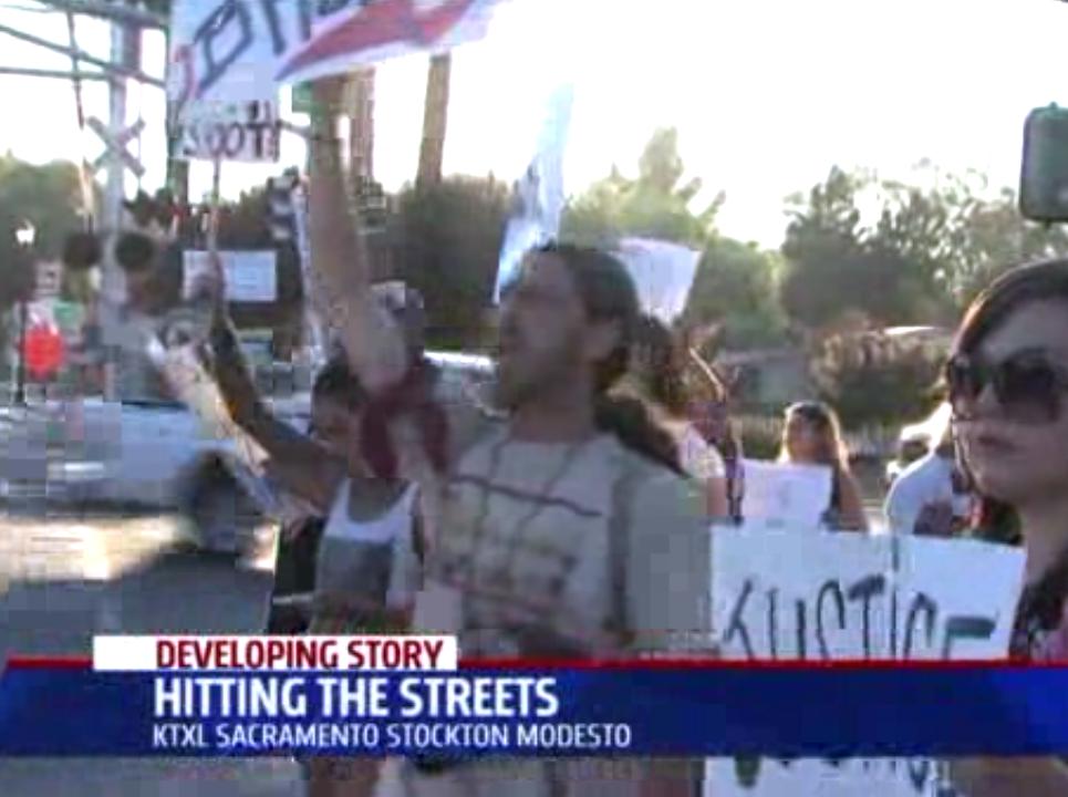 Locals Evoke Ferguson in Protesting Woodland Shooting