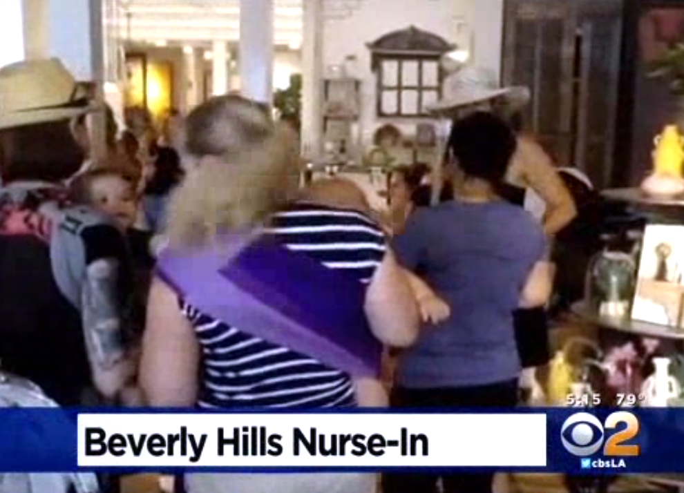 Breastfeeding Moms Stage 'Nurse-in' at Beverly Hills Store