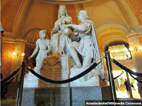 CA Lawmakers Vandalize Historic Sculpture with Superstition Ritual