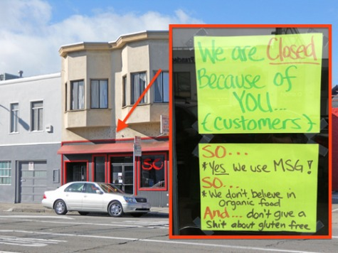 Enough Is Enough! Owner Shuts Down SF Restaurant for Day over Picky Customers: 'We Don't Give a Sh*t About Gluten Free'