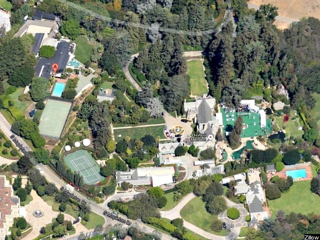 Playboy Mansion Flooded by Water Main Break