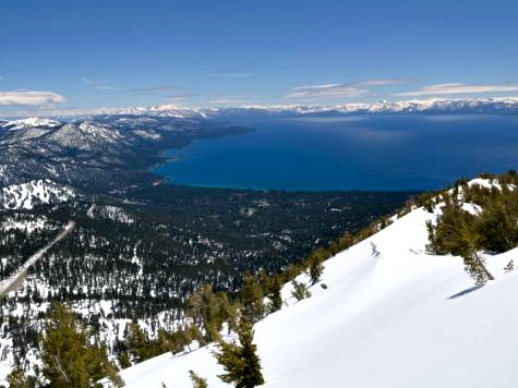 Welcome Snow Falls Early on the Sierra Nevada, Blankets Lake Tahoe