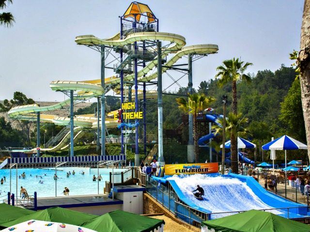 Triple Digit SoCal October Heat Cooled at Local Raging Waters