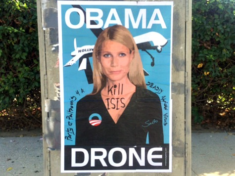 'Obama Drone' Street Art Targets Gwyneth Paltrow Ahead of L.A. Fundraiser