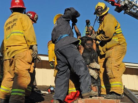 Woman Stuck in Chimney Arrested After Rescue