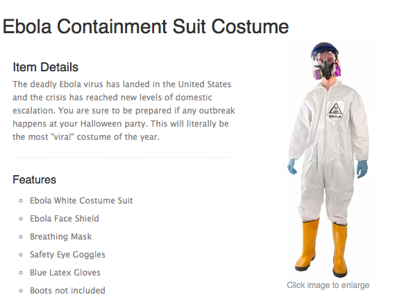 Company Offers Marijuana Leaf, Ebola Hazmat Halloween Costumes for Children