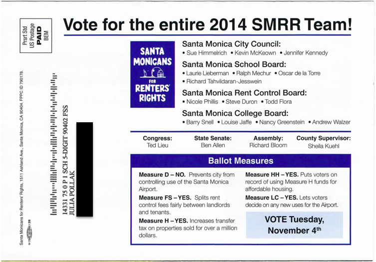 How the Measure LC Campaign Lies to Santa Monica Voters