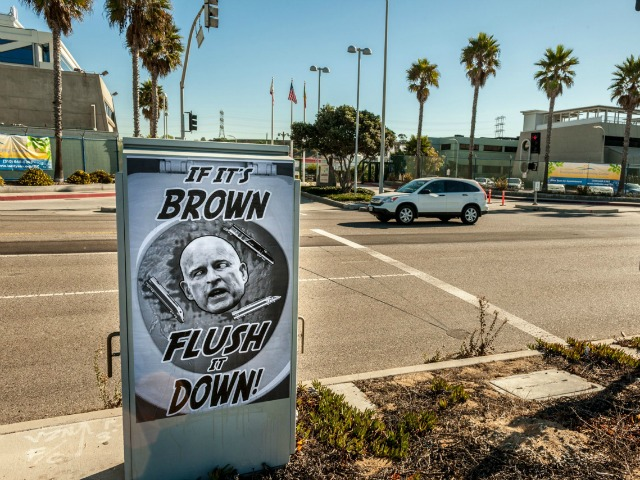 Posters Mocking Jerry Brown: 'If It's Brown Flush It Down'