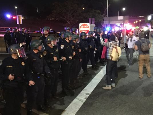 L.A. Mass Arrest: 3 Jail Busses Haul Ferguson Protesters Away