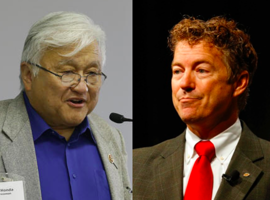 Mike Honda Aims at Rand Paul–and Misses