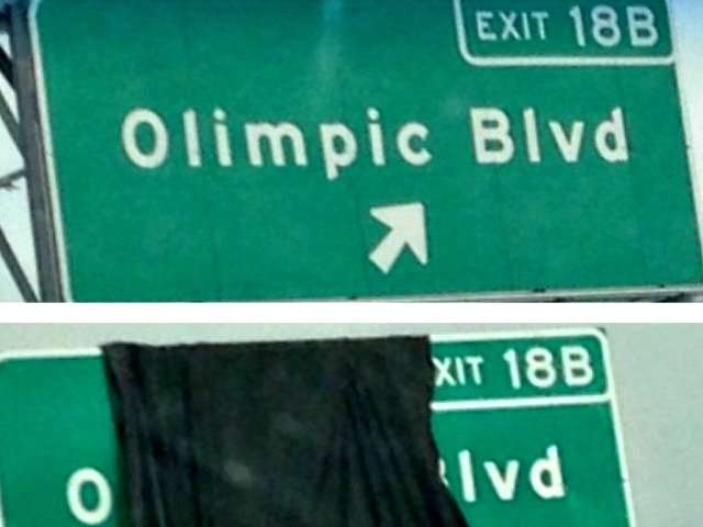 'Olimpic Blvd'?:  $120M Sign Project Botched with Typo