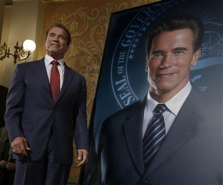 Gov. Schwarzenegger Portrait Retouched, Scrubbed of Maria Schriver's Image