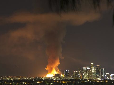 Massive Downtown L.A. Fire Believed to Be Started Intentionally
