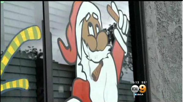 Pot-Smoking Santa Decoration Removed from Dispensary After Complaints