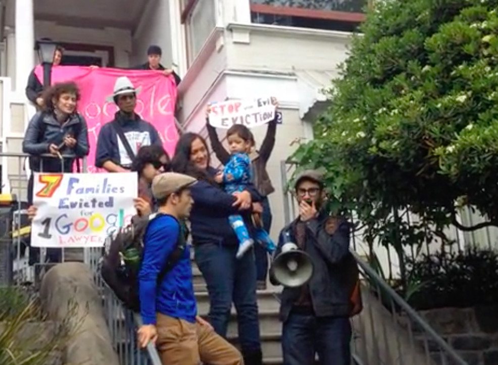 Income Inequality Protesters Target Google Lawyer's Apartments