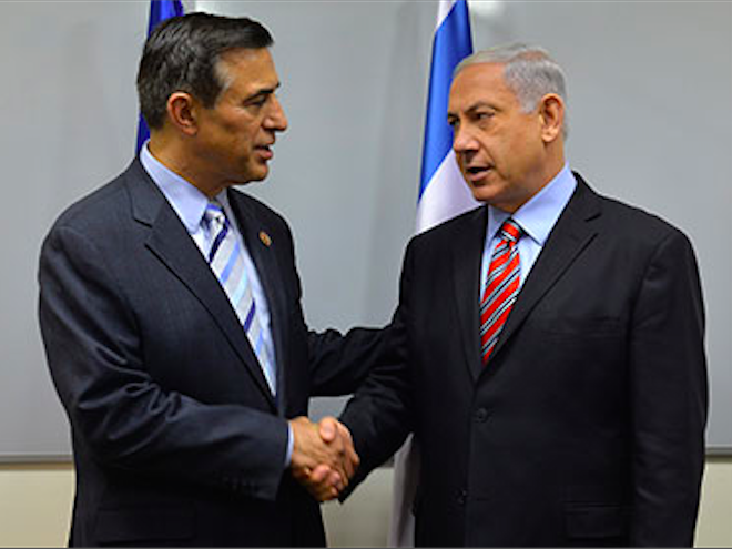 Issa Meets Netanyahu in Jerusalem, Offers Support for War Effort