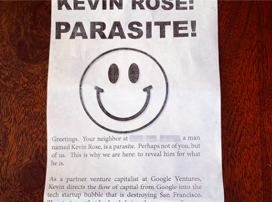 Income Inequality Protestors Target Google Exec's Home