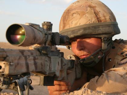 British Sniper Kills Six Taliban Members With One Shot