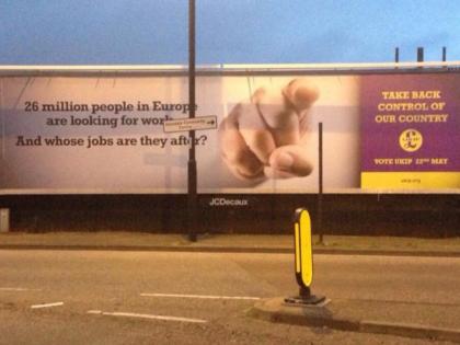 UKIP's European Election Billboards Cause Twitter Storm