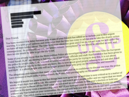 Anti-UKIP, Dirty Tricks, 'Fantasy' Letter Alleges Fraud, Paedophilia, and Theft within Farage's Party