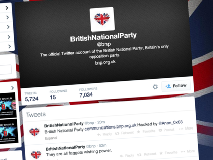 British National Party Twitter, Website Hacked by 'Anon' Hackers