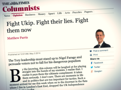 Times of London Meltdown: 'Fight Ukip. Fight Their Lies. Fight Them Now'