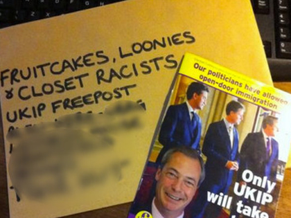 UKIP Forced to Cancel Freepost Address After Being Sent Excrement and Blood