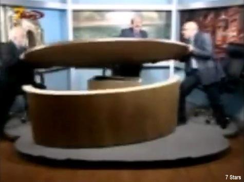 WATCH: Jordanian Journalists Destroy TV Studio in Fight During Syrian Civil War Debate