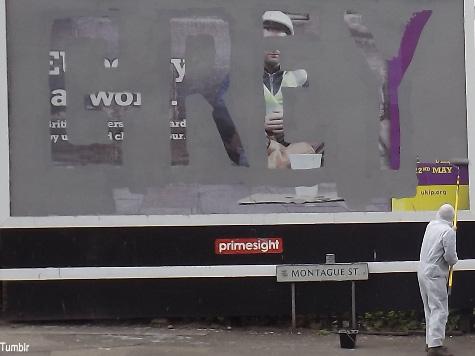 HuffPo Writer Admits Vandalising UKIP Poster