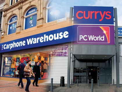 Britain's Dixons, Carphone Warehouse Agree to £3.8bn Merger