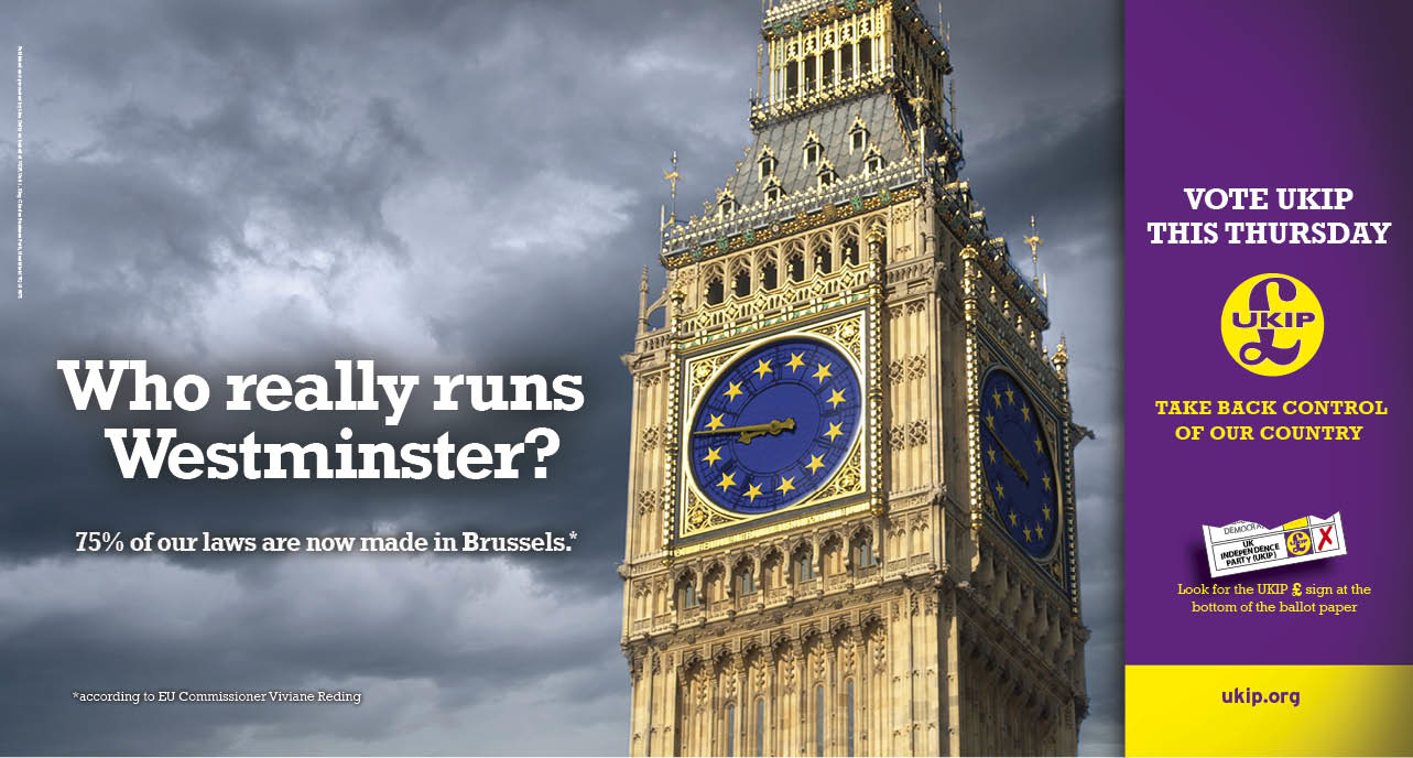 EXCLUSIVE: New UKIP Poster Shows Big Ben Dominated by EU Flag