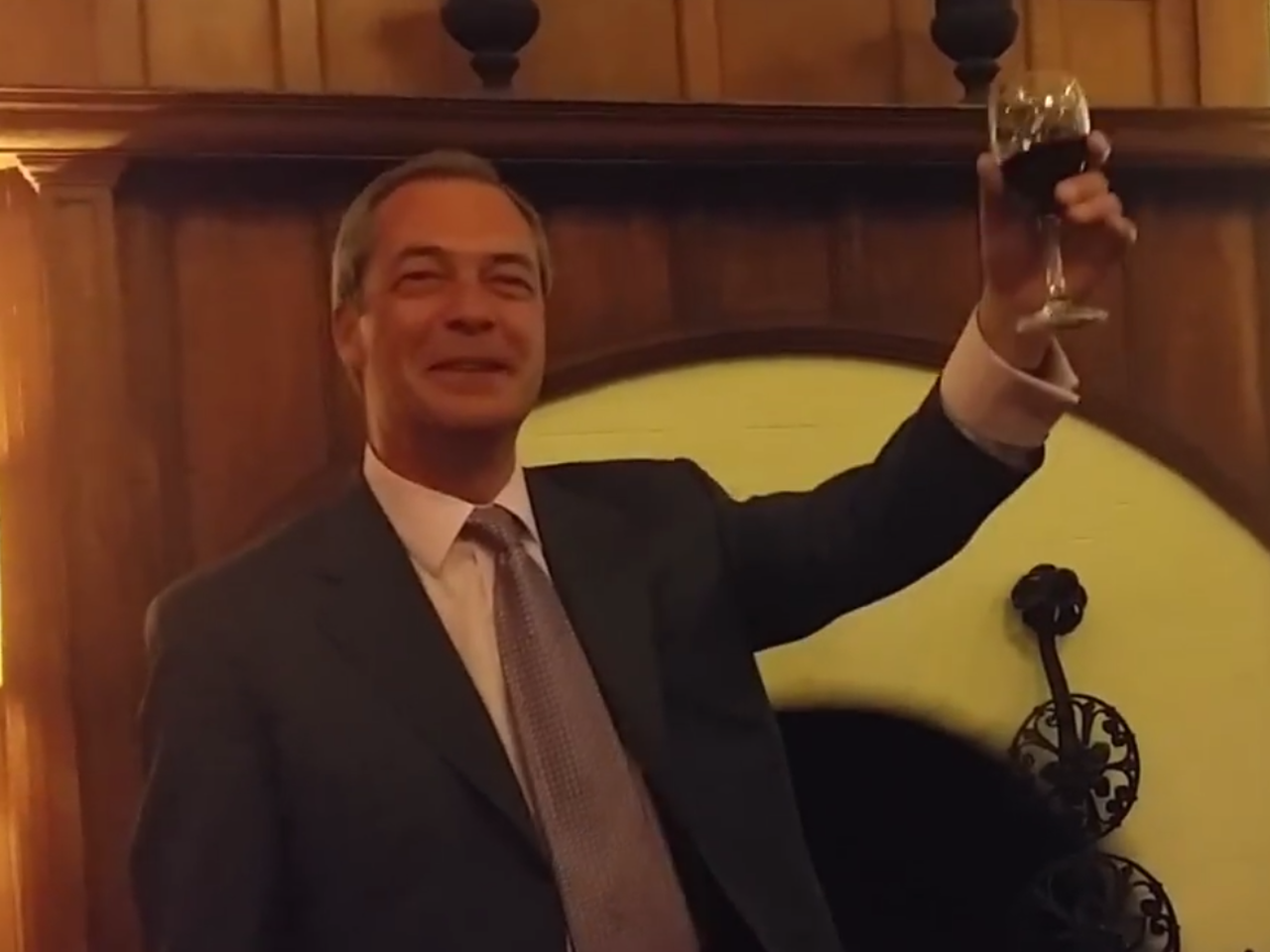 Nigel Farage and the Southampton Wedding Party