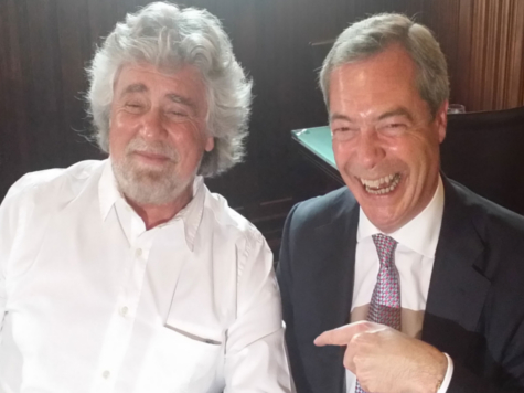 Britain's Farage and Italy's Grillo may defeat PM Cameron's plans