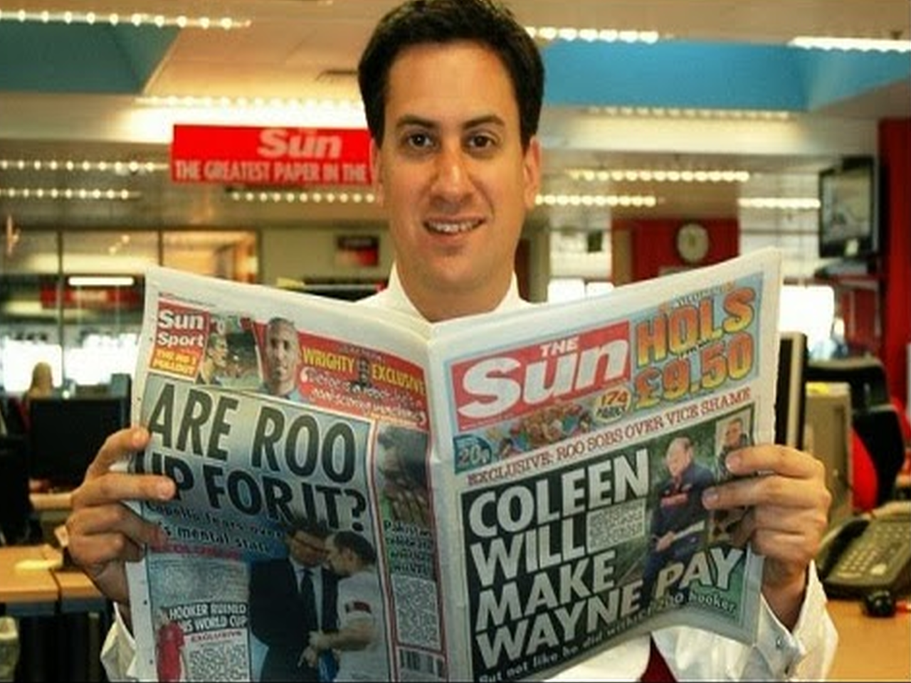 Miliband's Favourite News Source is Owned by a U.S. Republican